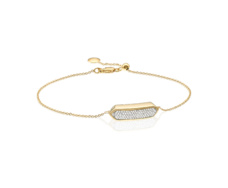 Gold Vermeil Baja Mini Bracelet - Diamond - Monica Vinader