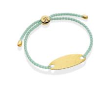 Gold Vermeil Bali Friendship Bracelet - Mint - Monica Vinader