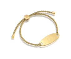 Gold Vermeil Bali Friendship Bracelet - Gold Metallica - Monica Vinader