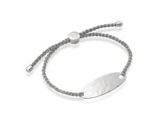 Bali Friendship Bracelet - Silver Metallica - Monica Vinader
