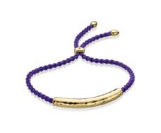Gold Vermeil Esencia Friendship Bracelet - Amethyst - Plum - Monica Vinader