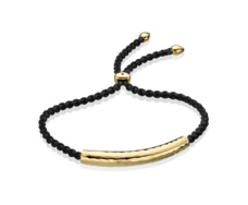 Gold Vermeil Esencia Friendship Bracelet - Black Spinel - Black - Monica Vinader