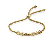 Gold Vermeil Esencia Scatter Friendship Bracelet - White Topaz - Gold Metallica - Monica Vinader
