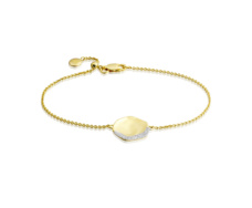 Gold Vermeil Riva Diamond Shore Chain Bracelet - Monica Vinader