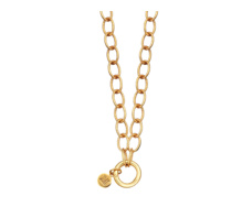 Gold Vermeil Lungo Chain Necklace 18 Inch/46cm - Monica Vinader