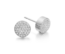 Sterling Silver Pave Stud Earrings - Diamond - Monica Vinader