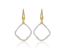Gold Vermeil Riva Diamond Hoop Earrings - Monica Vinader