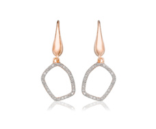 Rose Gold Vermeil Riva Mini Diamond Hoop Earrings - Monica Vinader