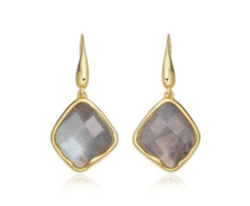 Gold Vermeil Riva Labradorite Wire Earrings - Monica Vinader