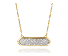 Gold Vermeil Baja Mini Necklace - Diamond - Monica Vinader