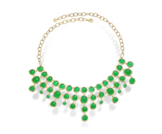 Gold Vermeil Siren Bib Necklace - Green Onyx - Monica Vinader