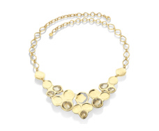 Gold Vermeil Riva Diamond And Lemon Quartz Bib - Monica Vinader