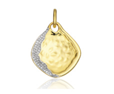 Gold Vermeil Riva Diamond Shore Pendant Large - Monica Vinader