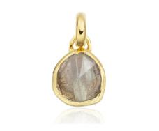 Gold Vermeil Mini Siren Bezel Pendant - Labradorite - Monica Vinader