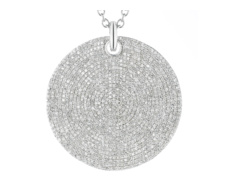 Large Ava Diamond Pave Pendant - Monica Vinader
