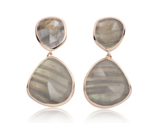Rose Gold Vermeil Siren Cocktail Earrings - Labradorite - Monica Vinader