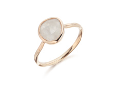 Rose Gold Vermeil Siren Stacking Ring - Moonstone - Monica Vinader