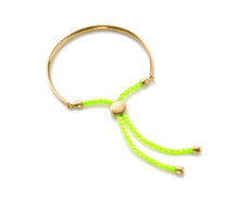 Gold Vermeil Fiji Friendship Bracelet - Fluro Yellow - Monica Vinader