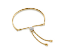 Gold Vermeil Pave Toggle Bracelet - Diamond - Monica Vinader