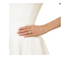 Gold Vermeil Atlantis Gem Mini Stacking Ring - Turquoise - Monica Vinader