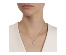 Rose Gold Vermeil Alma Pendant - Diamond - Monica Vinader