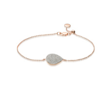 Rose Gold Vermeil Alma Bracelet - Diamond - Monica Vinader