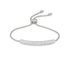 Esencia Pave Bar Bracelet - Diamond