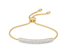 Gold Vermeil Esencia Diamond Bar Bracelet - Monica Vinader