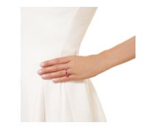 Rose Gold Vermeil  Baja Precious Ring - Ruby & Diamond - Monica Vinader