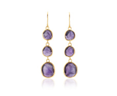 GP Siren Wire Cocktail Earrings - Amethyst - Monica Vinader