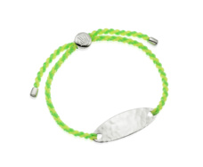 Bali Friendship Bracelet - Fluro Green Fluro Yellow - Monica Vinader