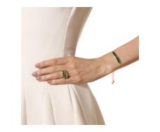 Gold Vermeil Baja Chain Bracelet - Green Onyx - Monica Vinader