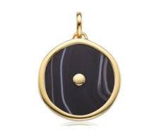 Gold Vermeil Atlantis Eye Pendant - Line Onyx