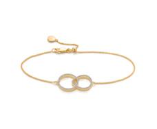 Gold Vermeil Diva Kiss Open Bracelet  - Diamond - Monica Vinader