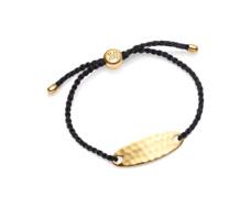 Gold Vermeil Bali Friendship Bracelet - Metallica Black