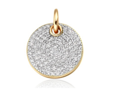 Gold Vermeil Ava Disc Pendant - Diamond - Monica Vinader