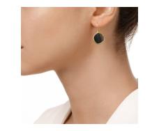 Gold Vermeil Atlantis Gem Earrings - Line Onyx