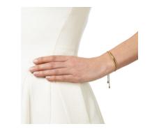Gold Vermeil Esencia Scatter Chain Bracelet - White Topaz