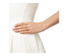 Rose Gold Vermeil Diva Circle Open Ring - Diamond