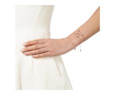 Rose Gold Vermeil Diva Circle Open Bracelet - Diamond