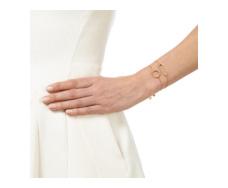 Gold Vermeil Diva Rectangle Open Bracelet - Diamond