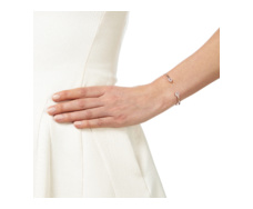 Rose Gold Vermeil Diva Thin Cuff - Moonstone and Diamonds