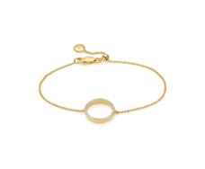 Gold Vermeil Diva Circle Open Bracelet