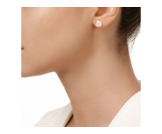 Gold Vermeil Siren Stud Earring - Moonstone