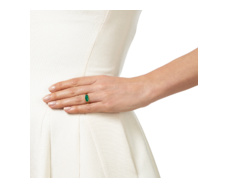 Gold Vermeil Vega Ring -Green Onyx - Monica Vinader