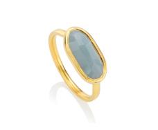 Gold Vermeil Vega Ring - Aquamarine