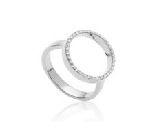 Diva Circle Open Ring - Diamond