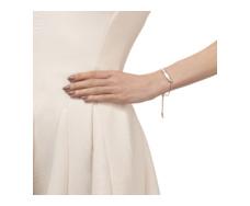 Rose Gold Vermeil Baja Chain Bracelet - White Chalcedony Model