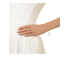 Gold Vermeil Esencia Diamond Toggle Bracelet