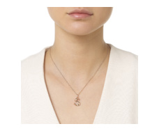 Rose Gold Vermeil Alphabet Pendant S Model